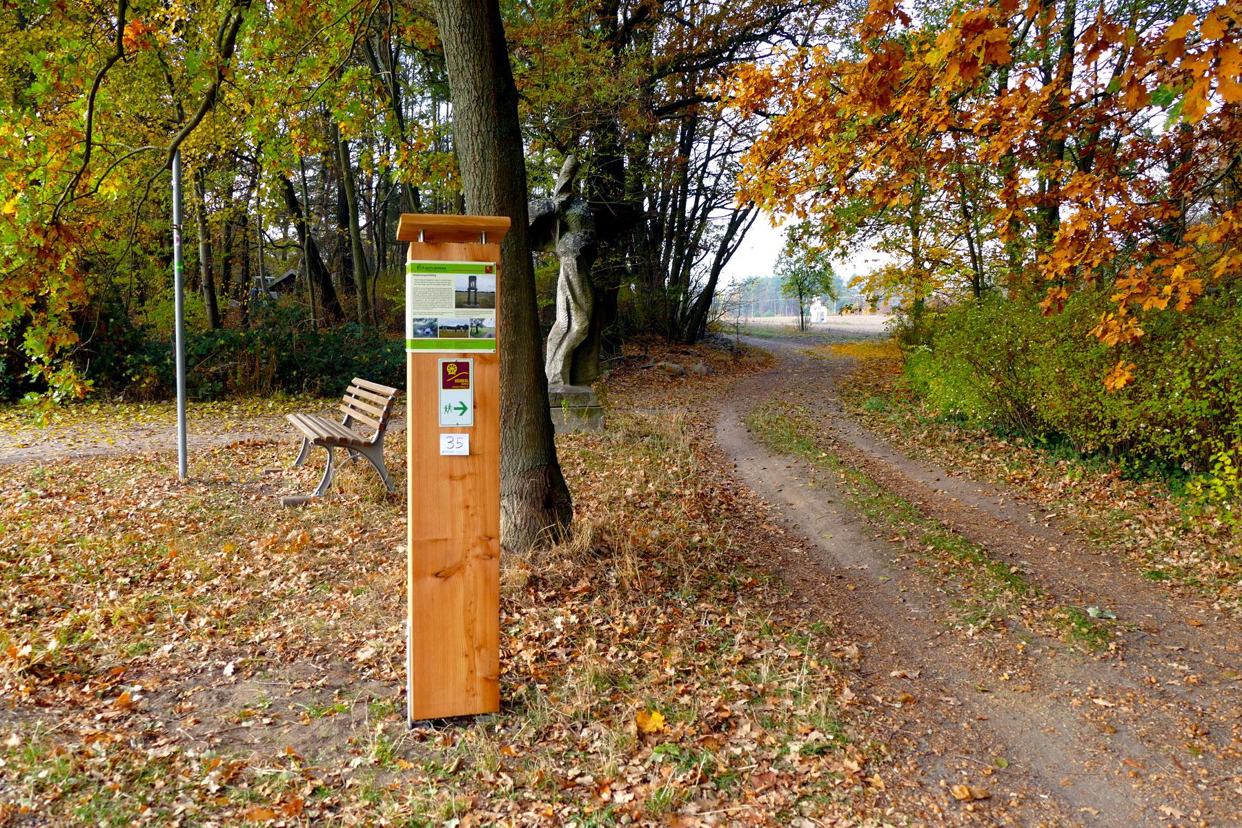Kunst Natur Und Geschichte Auf Dem Kienbergrundweg Naturpark Flaming
