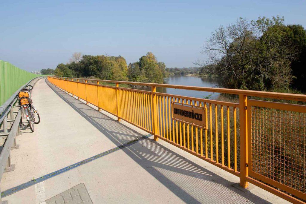 Titelbild Flämingradweg Brücke Dessau Roßlau