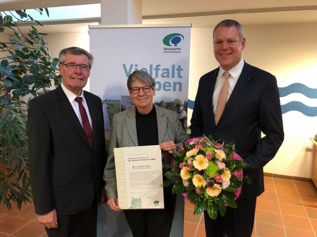 """Ernennung von Dr. Barbara Hendricks als """"Botschafterin Naturparke Deutschland"""" Foto von Benedikt Giesbers"""